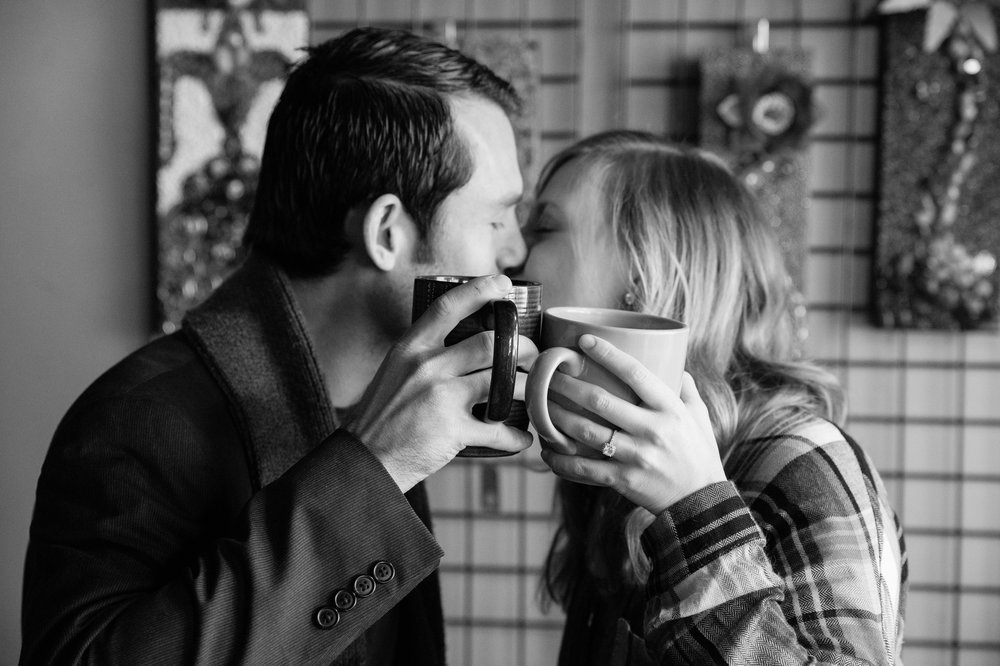 Munkabeans Coffee Shop Engagement Session Minnesota