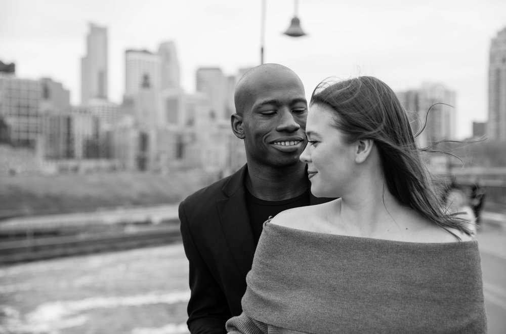 Stone Arch Bridge Minneapolis engagement