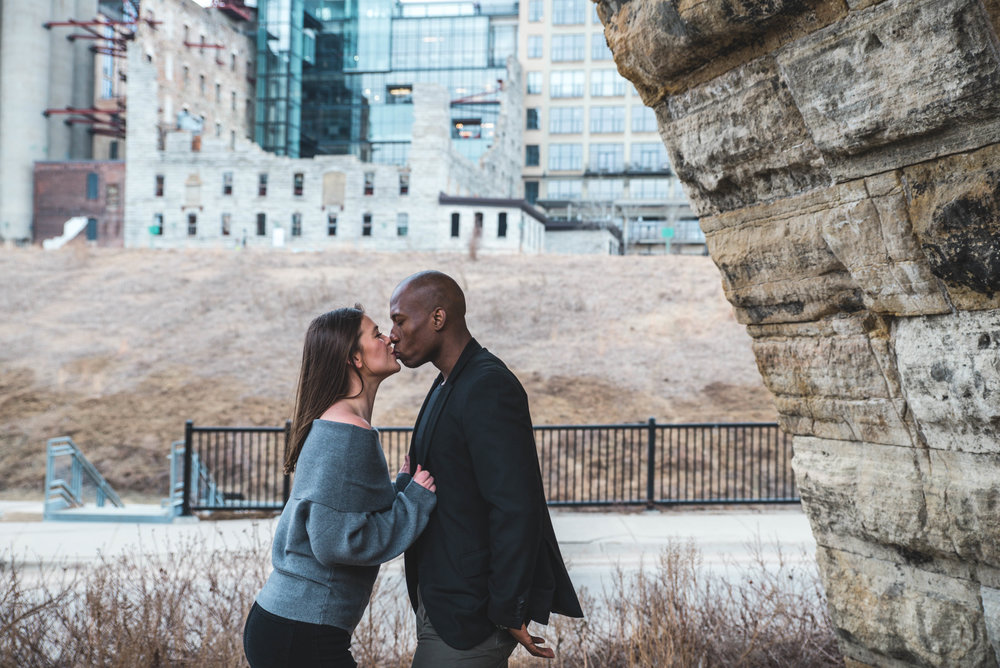Minneapolis Stone Arch Bridge Engagement