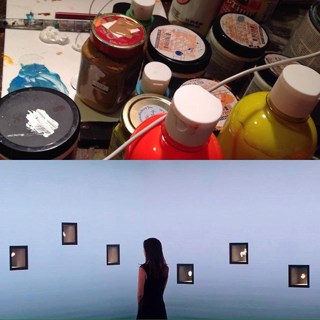 Keep painting no matter what THEY say!!!! . . #artistlife #artawareness #womanpainter #andywarhol #femmefatalenorth #colorsinspace #abstract #rebeccaklementovich. #contemporaryart #contenporaryartist #modernart #modernrenaissance #modernwoman #muralpainting #femmefatalenorth