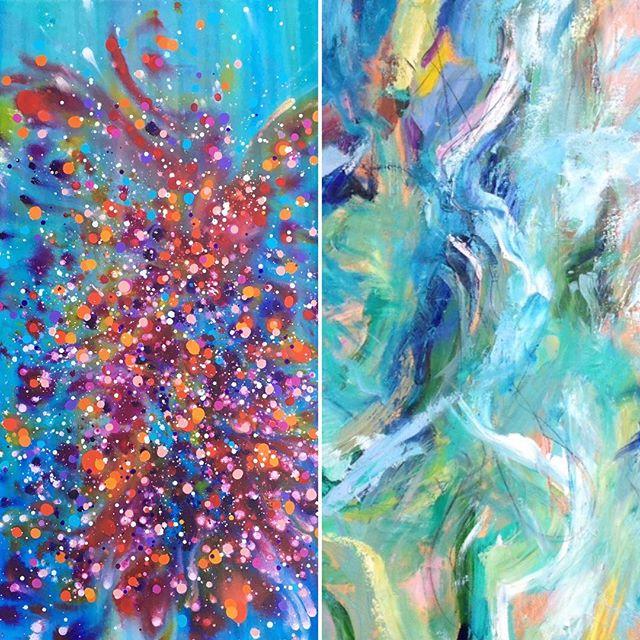 New work ready to go. All paintings include shipping. Link in bio. . . . . #femmefatales #womenartists #contemporaryart #modernart #abstractart #artforsale #interiordesign #hgtv #femaleentrepreneurs
