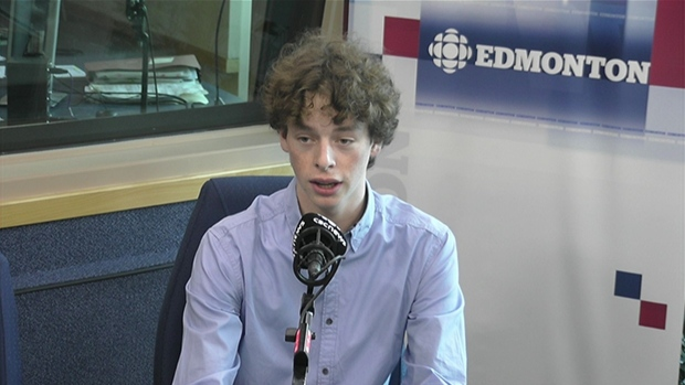 Cameron Somervllle speaks to CBC News about the issue (photo courtesy of CBC).