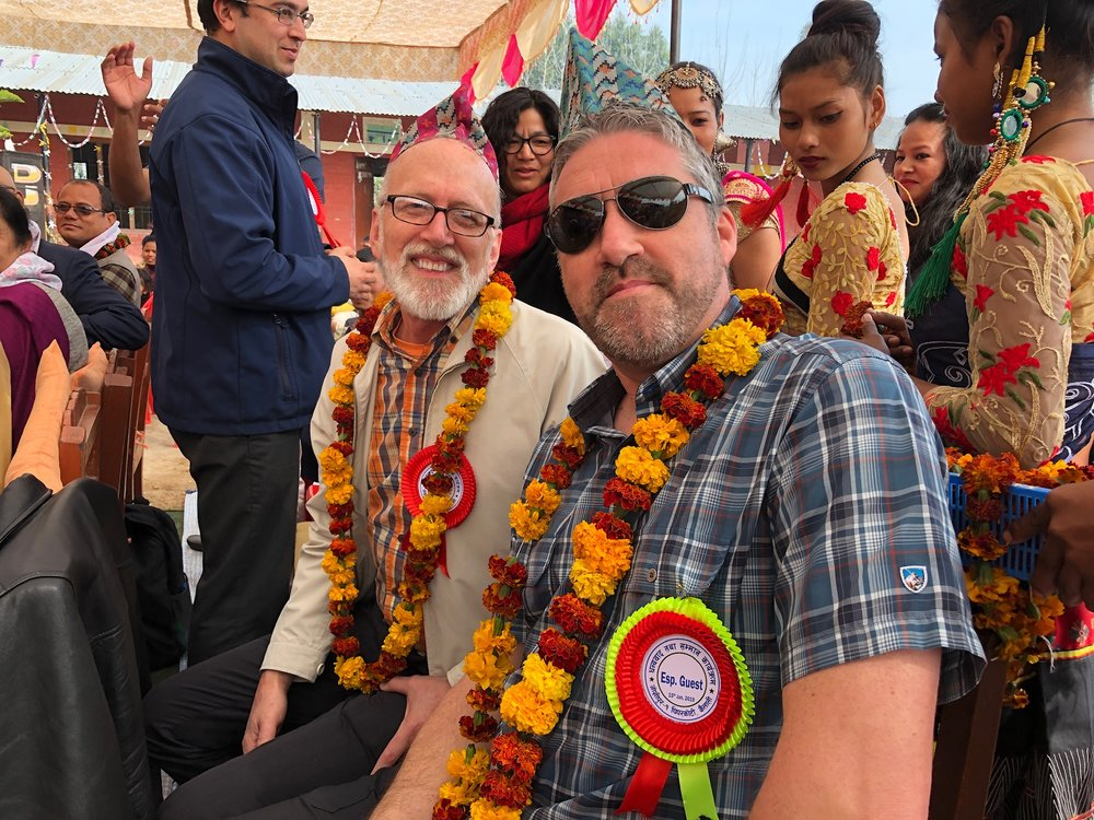 Tim Chambers (Christ's Church of Joplin) and Ian Ashby (New Frontiers Church) in Nepal