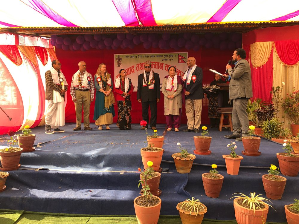 A ceremony honoring 20 years of freedom for former slaves in Nepal