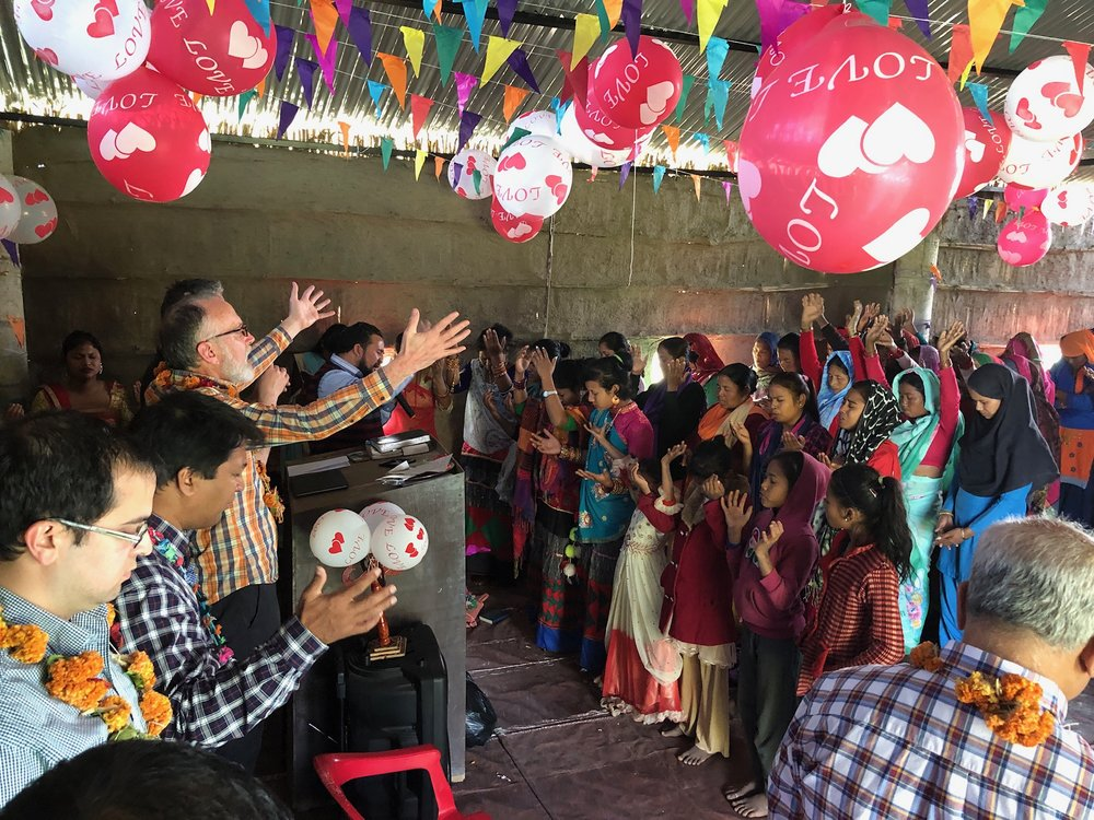 Worshipping with believers in Nepal