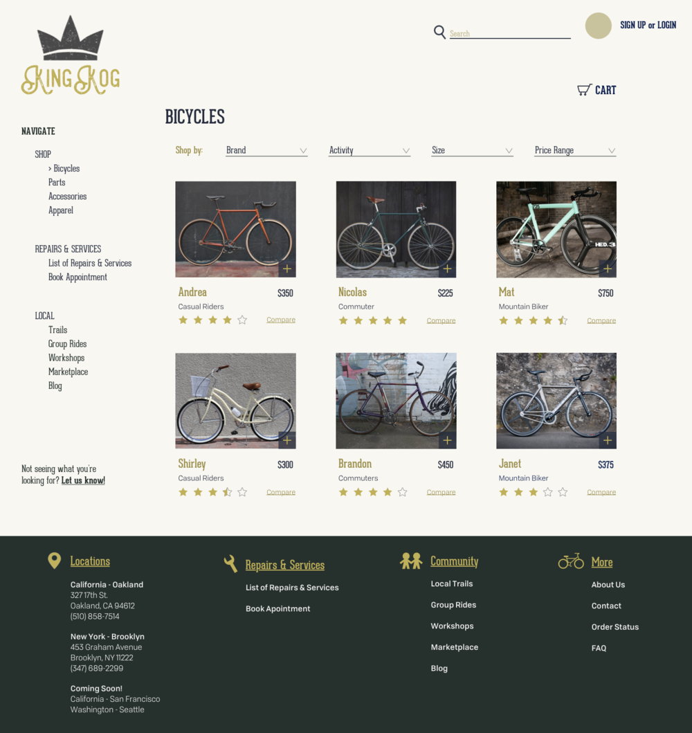 Shop > Bicycles