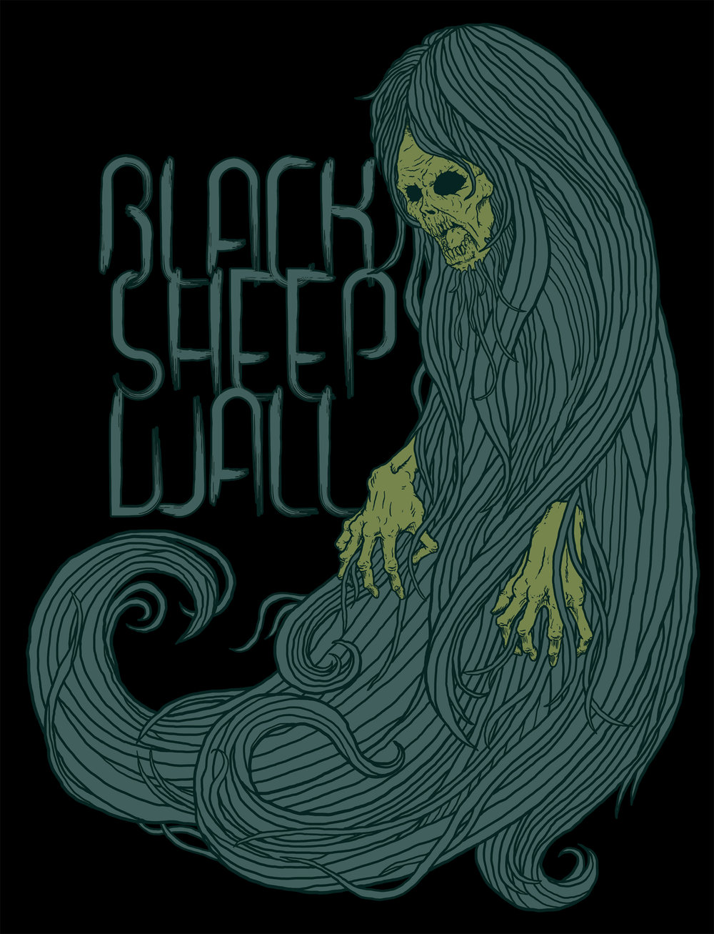 Shirt design for Black Sheep Wall