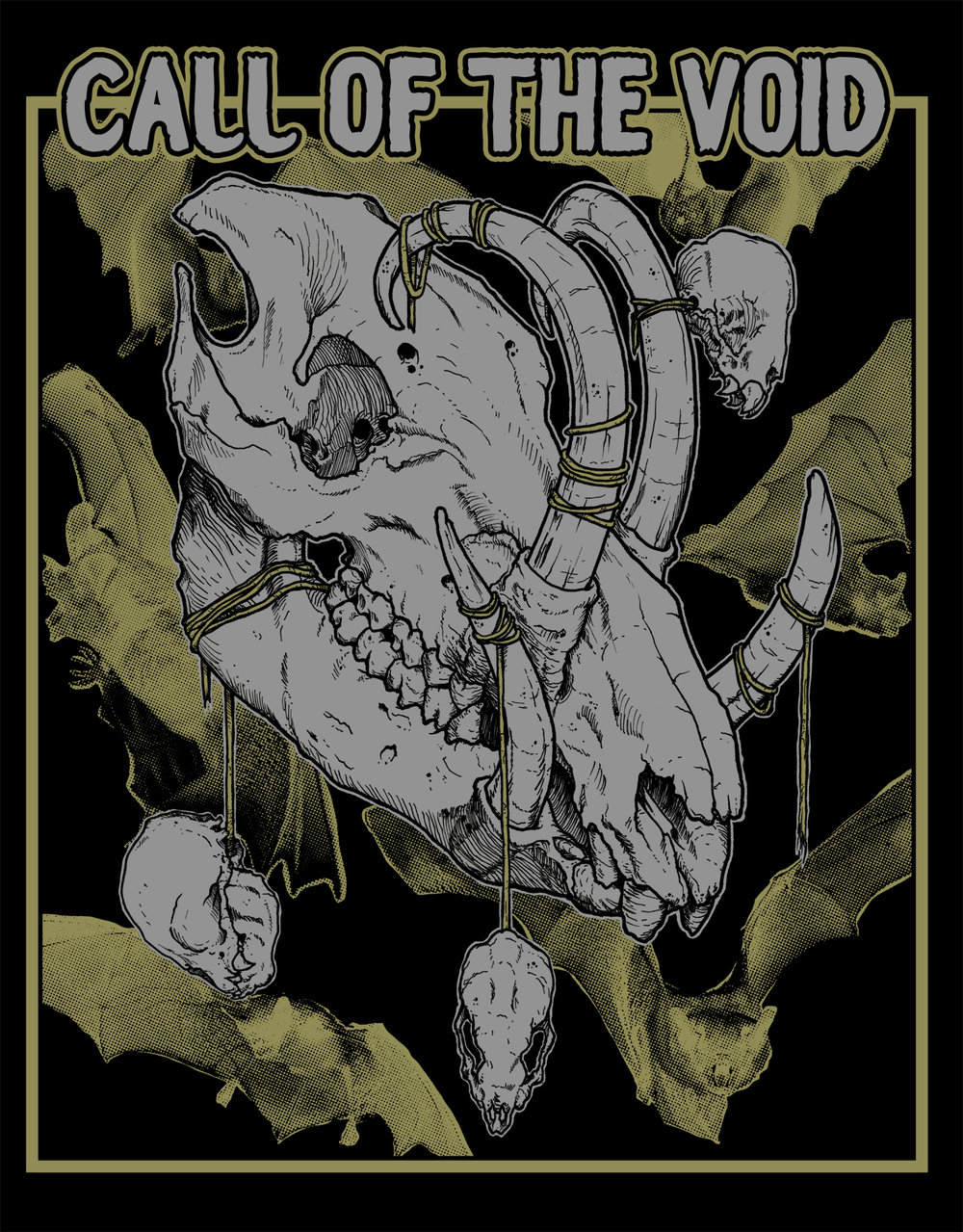 Shirt design for Call Of The Void.