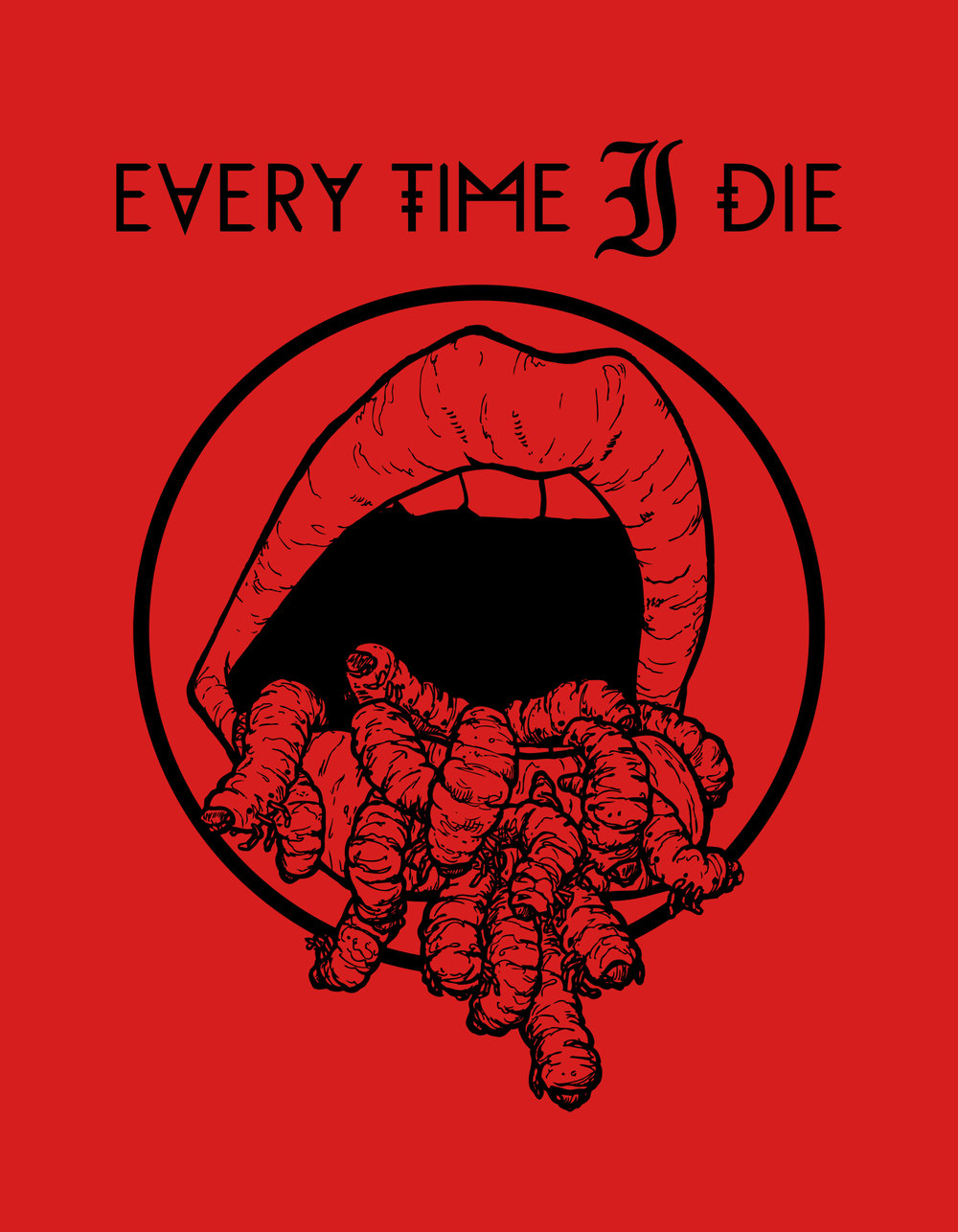 Shirt design for Every Time I Die.
