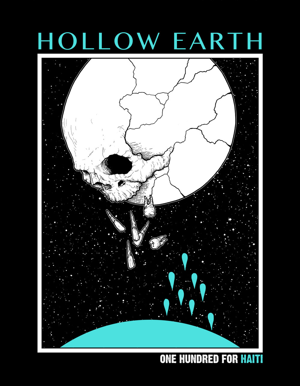 Shirt design for Hollow Earth/One Hundred For Haiti