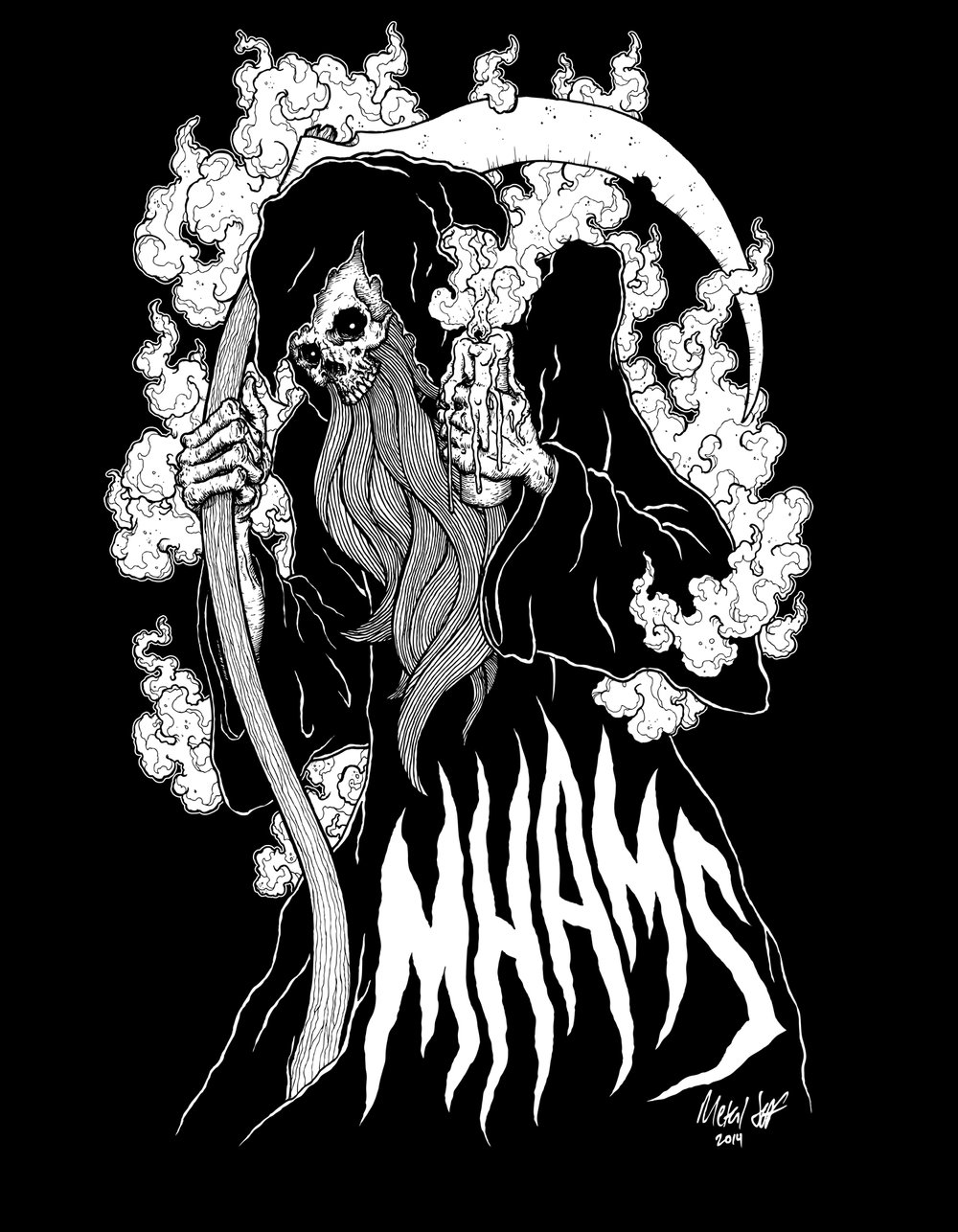 Shirt design for Lumbar/Metalheads Against MS (Aaron Edge).