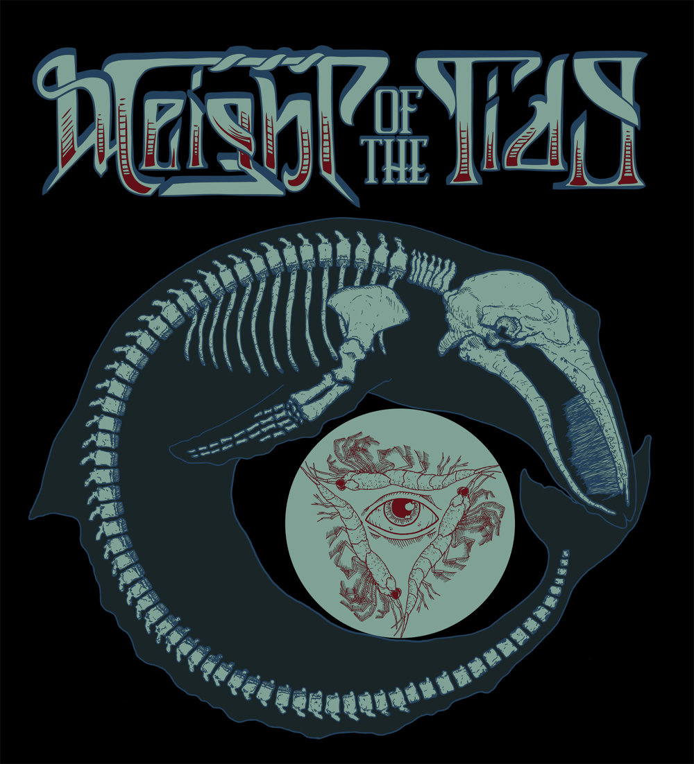 Shirt design for Weight Of The Tide. Logo by Tony Medellin.