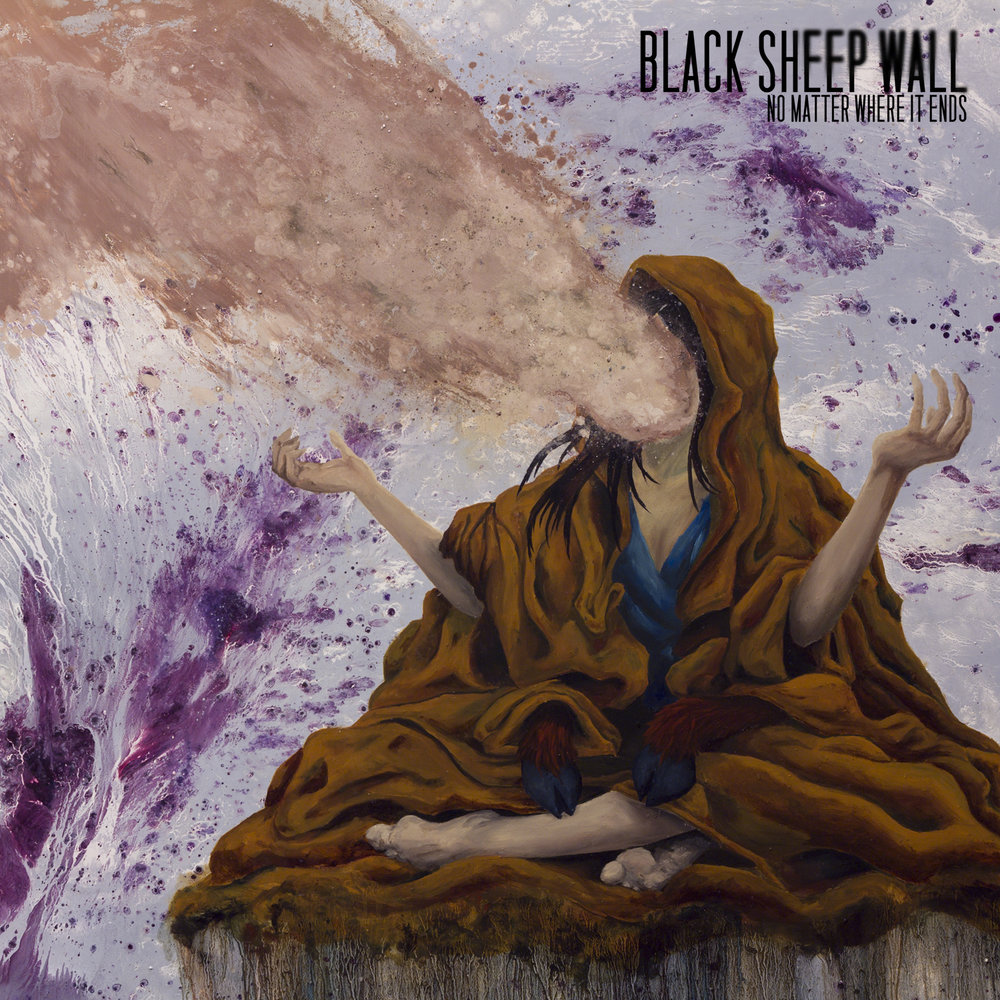 "Cover for Black Sheep Wall's ""No Matter Where It Ends."" I did the complete artwork and layout for the album. Release on CD. Oil paint on board."
