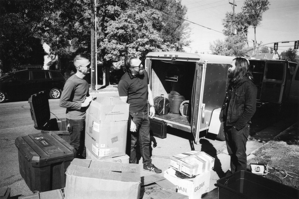 Cult Leader. Loading up the merch, first day of tour. Lucero household - Salt Lake City, UT. 10/07/16