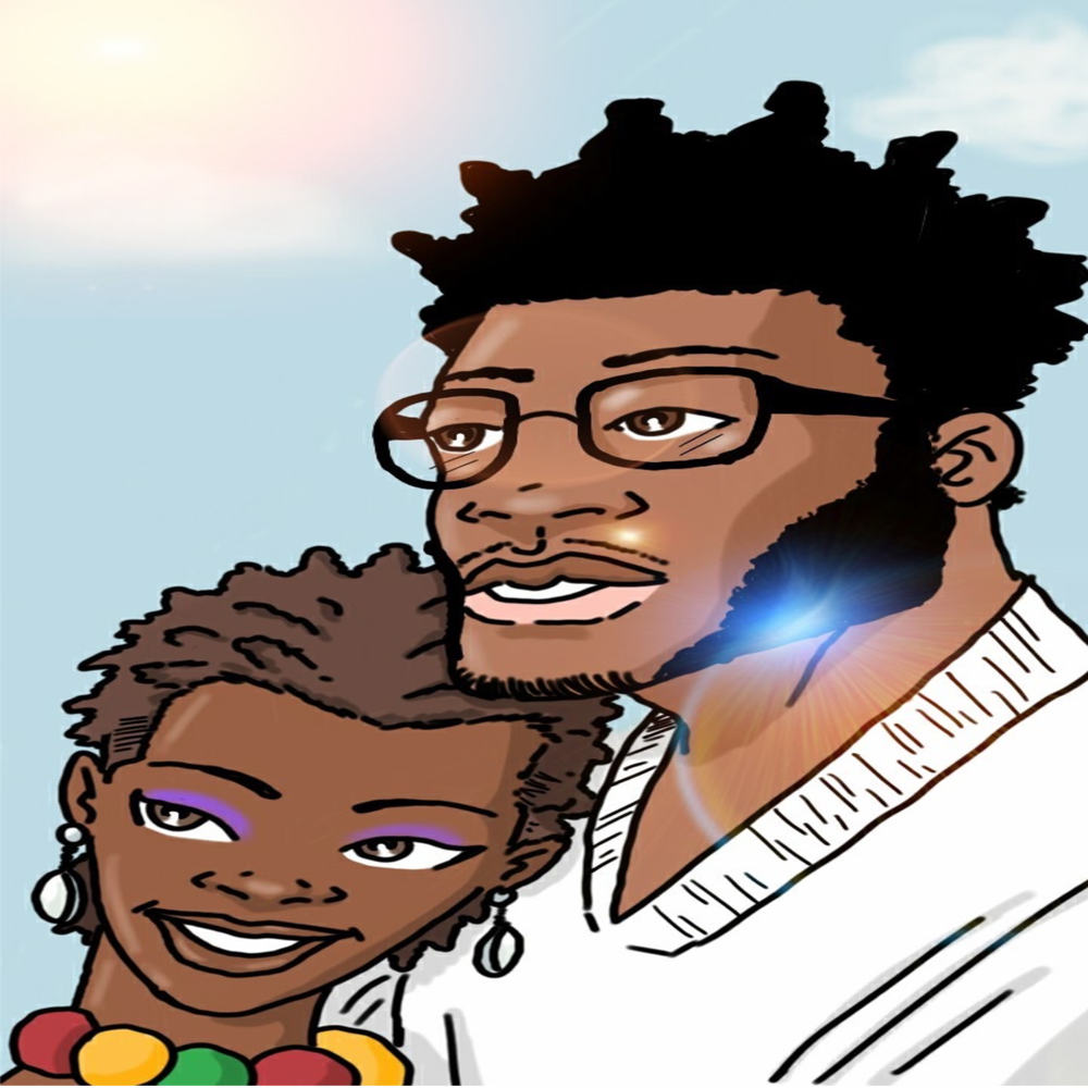 """Art by Kevin Chapman, Creator of  """"Afro Avenger""""  Comic Series"""