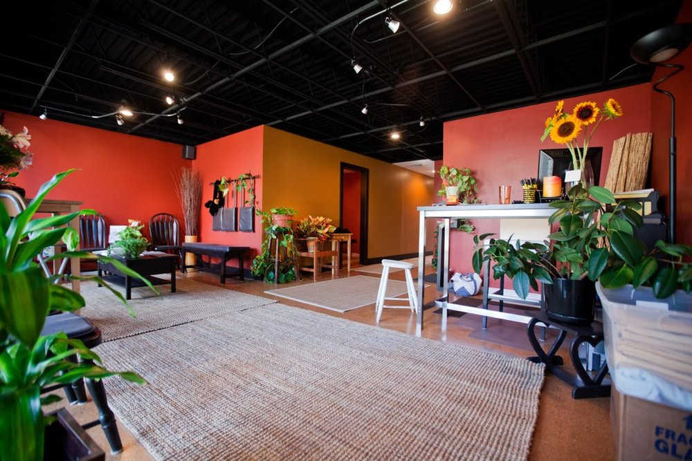 Dr. Erica Peabody's reception area at Café of LIFE Chiropractic in Fenton, MI.