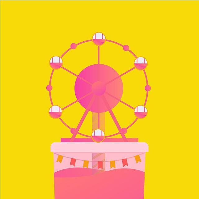 A ferries wheel bubble tea?