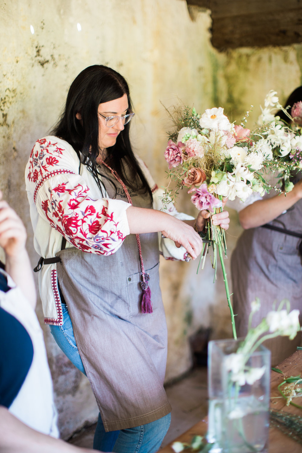 Zinnia Floral Designs - Spring class at the farm