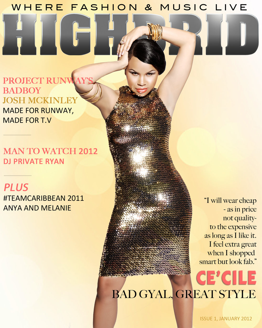 HIGHBRID MAGAZINE - Artiste Cover, Ce'cile   (2012)   Creative Director, Writer