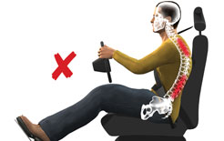 Slouch posture creates strain