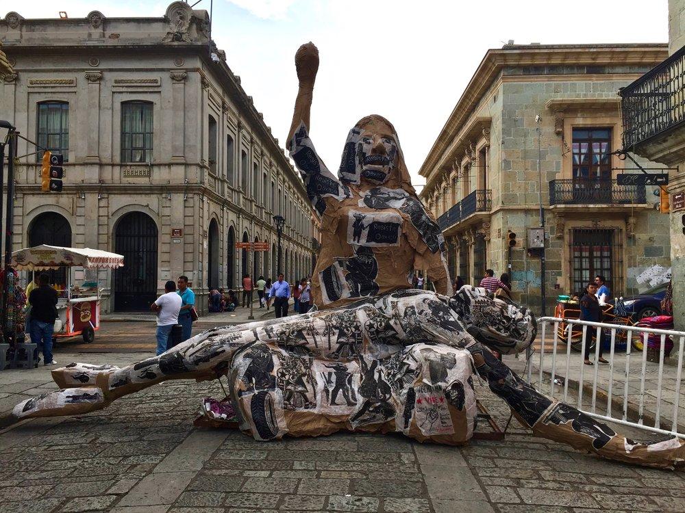 Oaxaca Protest Sculpture