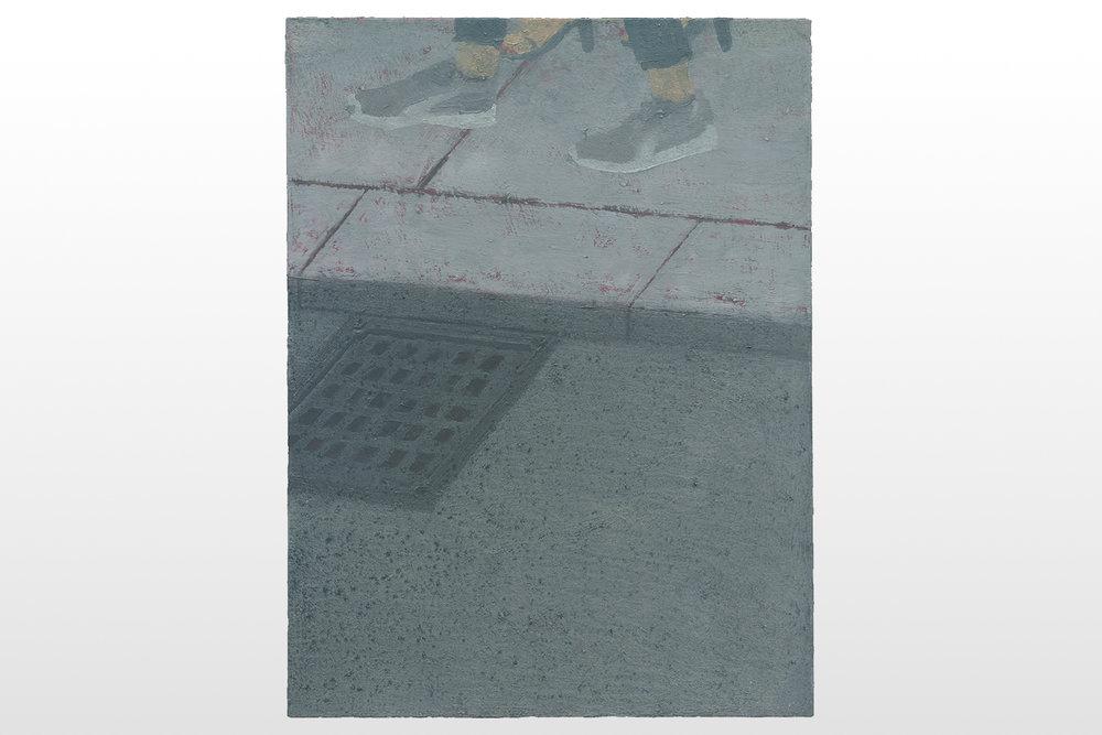 Worte, Worte, Worte, 2016, oil on cardboard, 24 x 18 cm