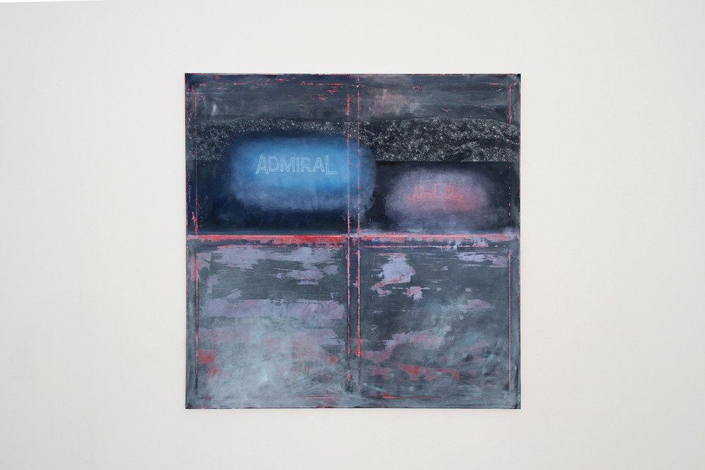 ROCK BOTTOM SHOW, Michael Fanta, No Title, oil on cotton, 125 x 125 cm, 2017