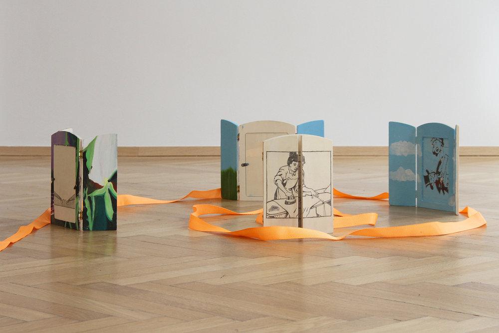 ROCK BOTTOM SHOW, Sophie Gogl, Ariadne's Domino Effect, installation view, 2017