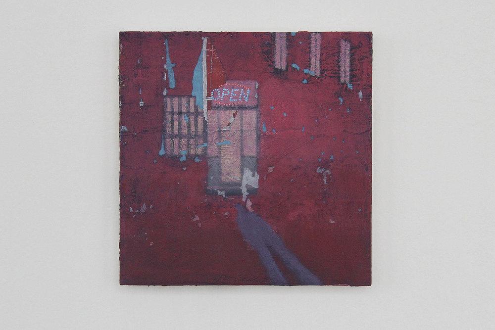 Maniac, 2017, oil on cardboard, 20 x 20 cm