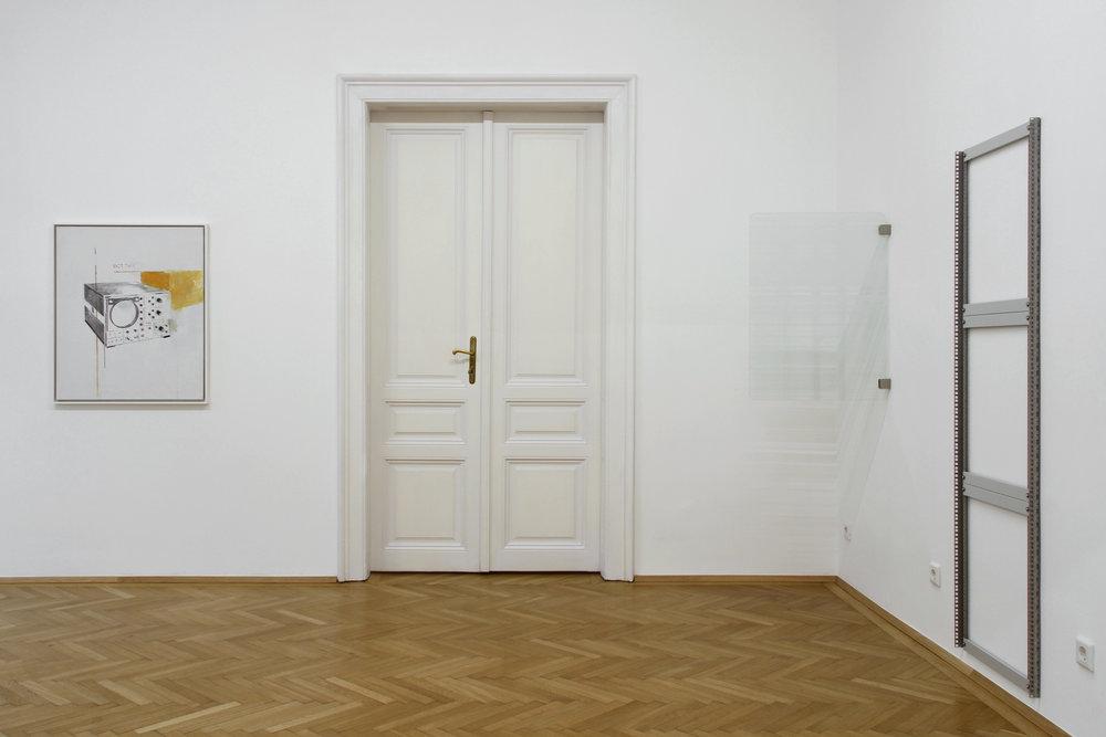 installation view, Agnes Fuchs, Julian Palacz, Ulrich Nausner