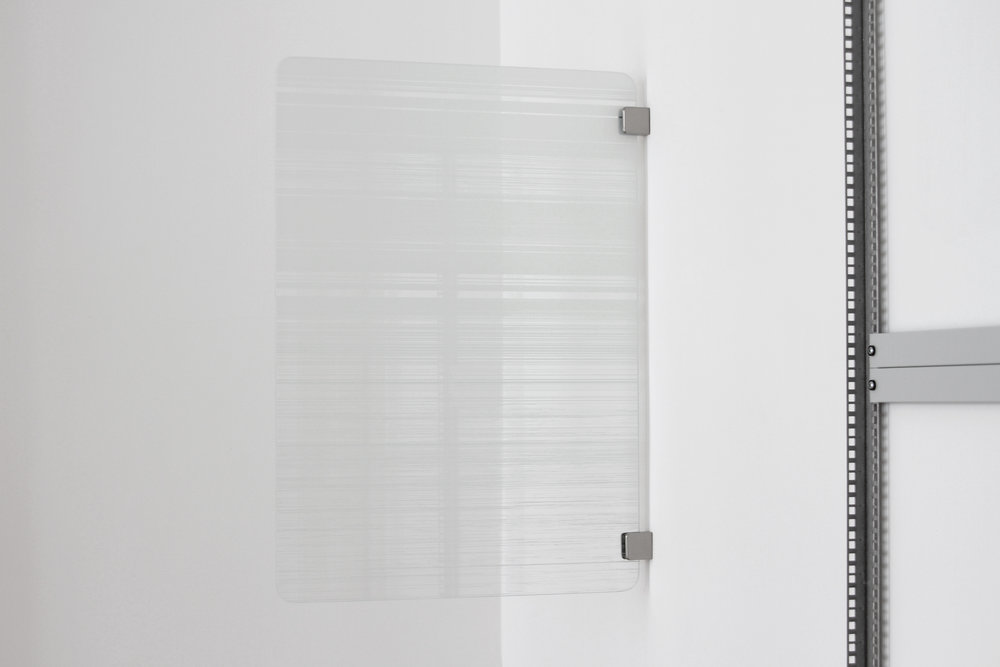 Julian Palacz, Fragmentierung Variation 2, 2017, UV-print on float glass, 85 x 60 cm, 1 + 1AP