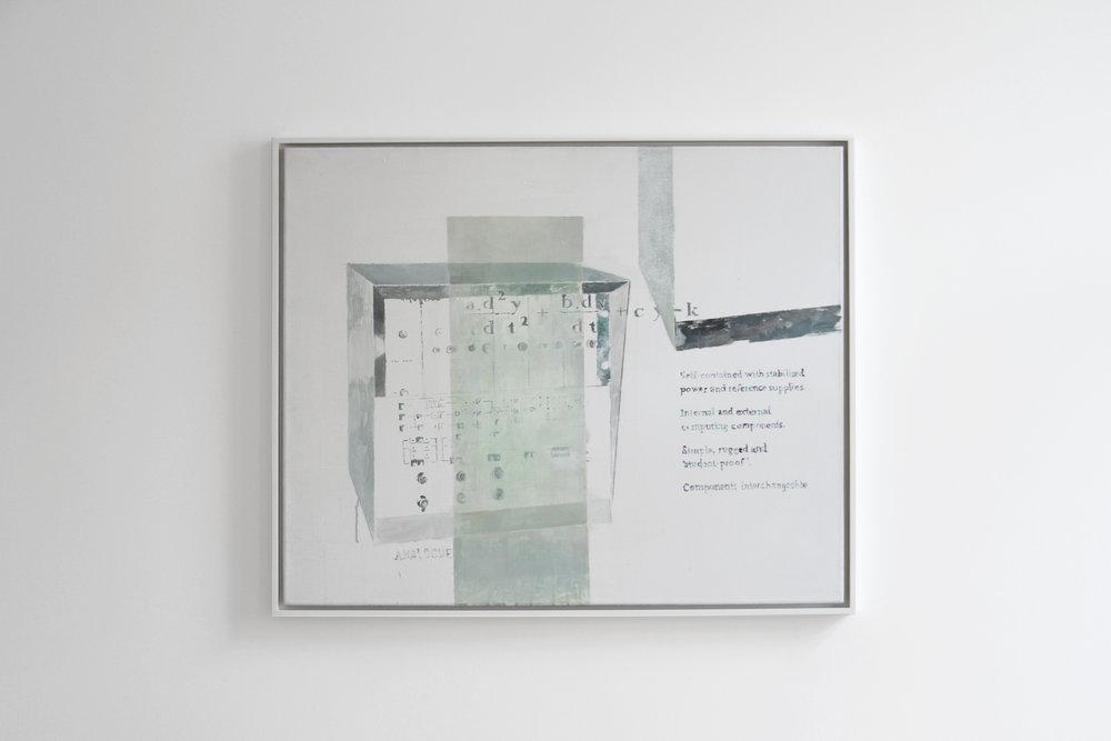 Agnes Fuchs, ANALOGUE TUTOR TY 963/02, 2012, Acrylic on canvas, 75 x 92 cm