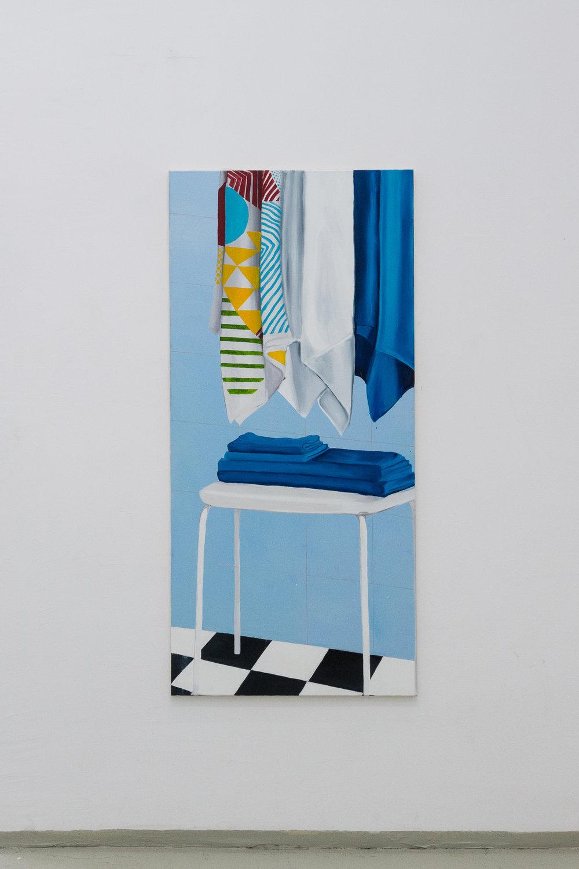 Ikea 2, oil on canvas, 140 x 80 cm, 2017 Photo: Philipp Friedrich