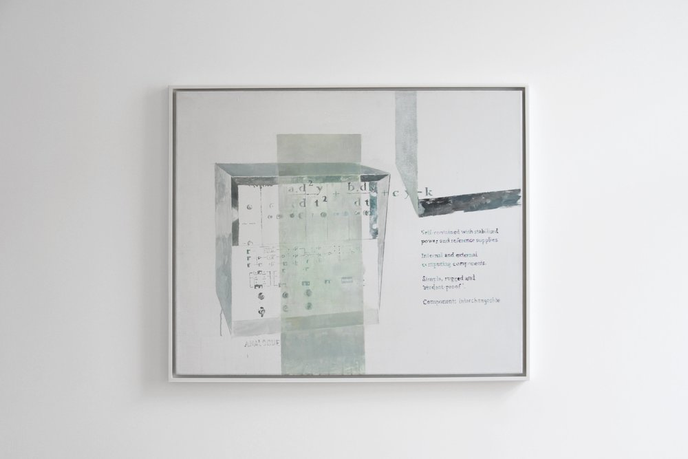 Agnes Fuchs, ANALOGUE TUTOR TY 963/02, 2013, Acrylic on canvas, 90 x 75 cm