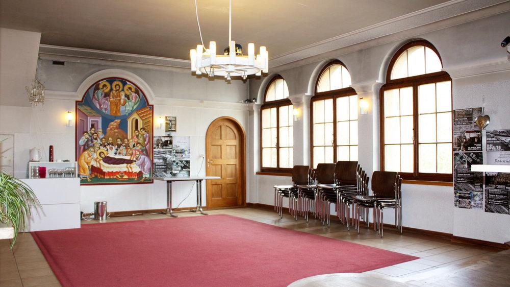 EMPORE (EHEM. KAPELLE) Die ehemalige Kapelle mit ihrem einzigartigen Charme ist ideal für Meditationen, Yogalektionen, aber auch Workshops und Kreise.