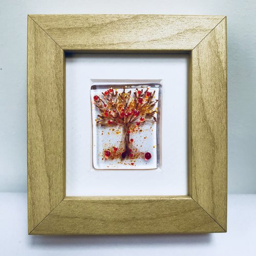 fused glass art framed - small — Mauralen