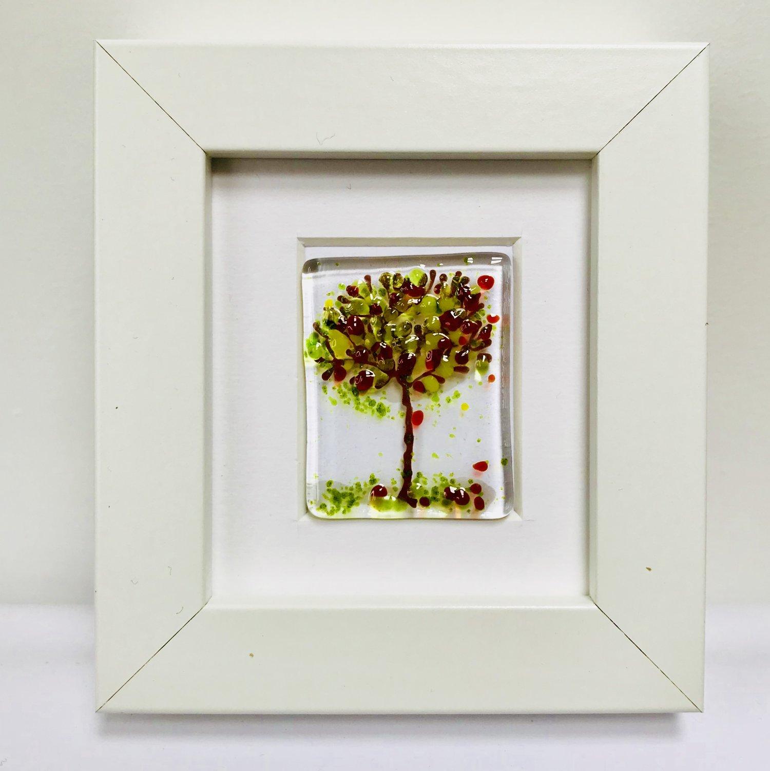 fused glass art framed - small — Mauralen