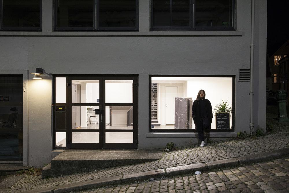 Foto Samuel Brzeski + Fredrik exh space at night.jpg