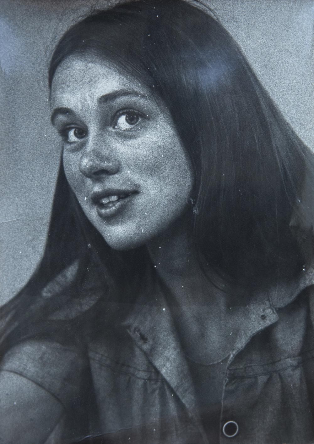 Annine i Ribe en gang på 1970-tallet.