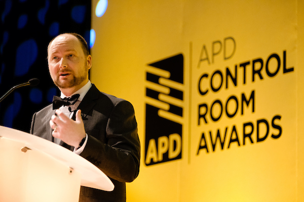 mike isherwood opens the apd control room awards 2018