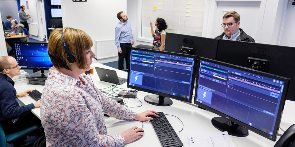 Software Quality Assurance Engineer Keeley Barrick and colleagues who have helped APD become the first software supplier to be officially certified to support a new, state-of-the-art communications network for the UK's emergency services.