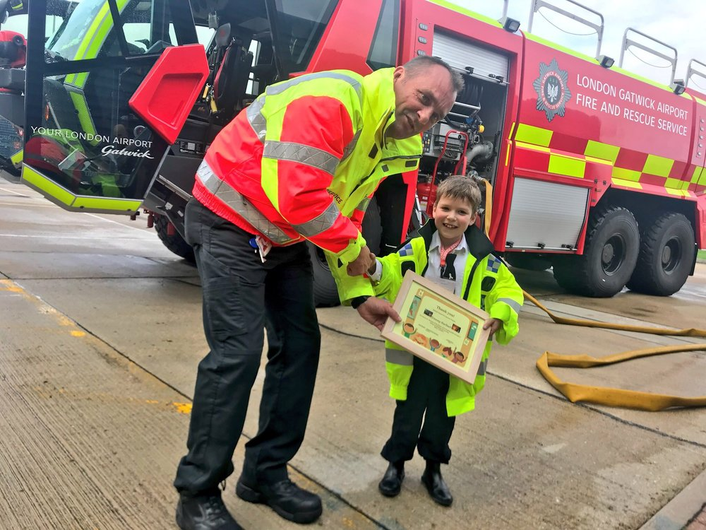 Danny joins gatwick airport fire and rescue service...