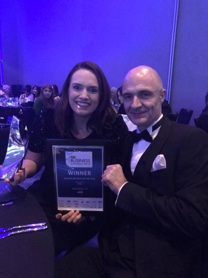 Rhiannon Beeson and Jaime kedgeley of APD Communications at prestigious awards ceremony