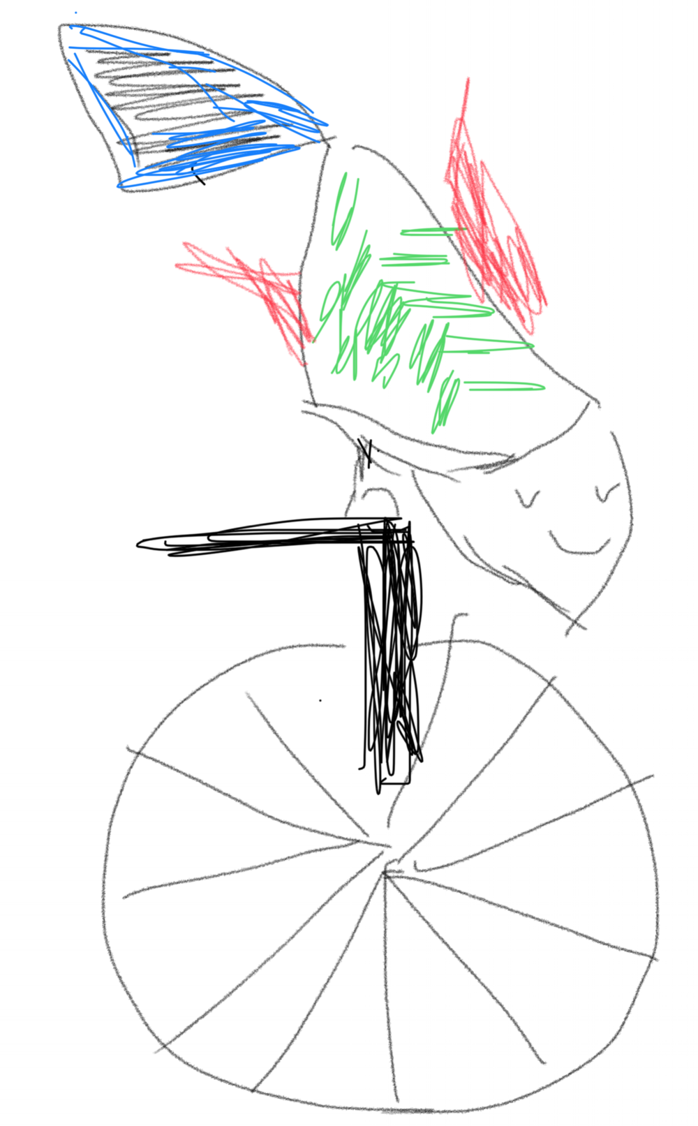 Credit: Nirupa FatFinger drawings on trusty iphone. Fish on a Unicycle