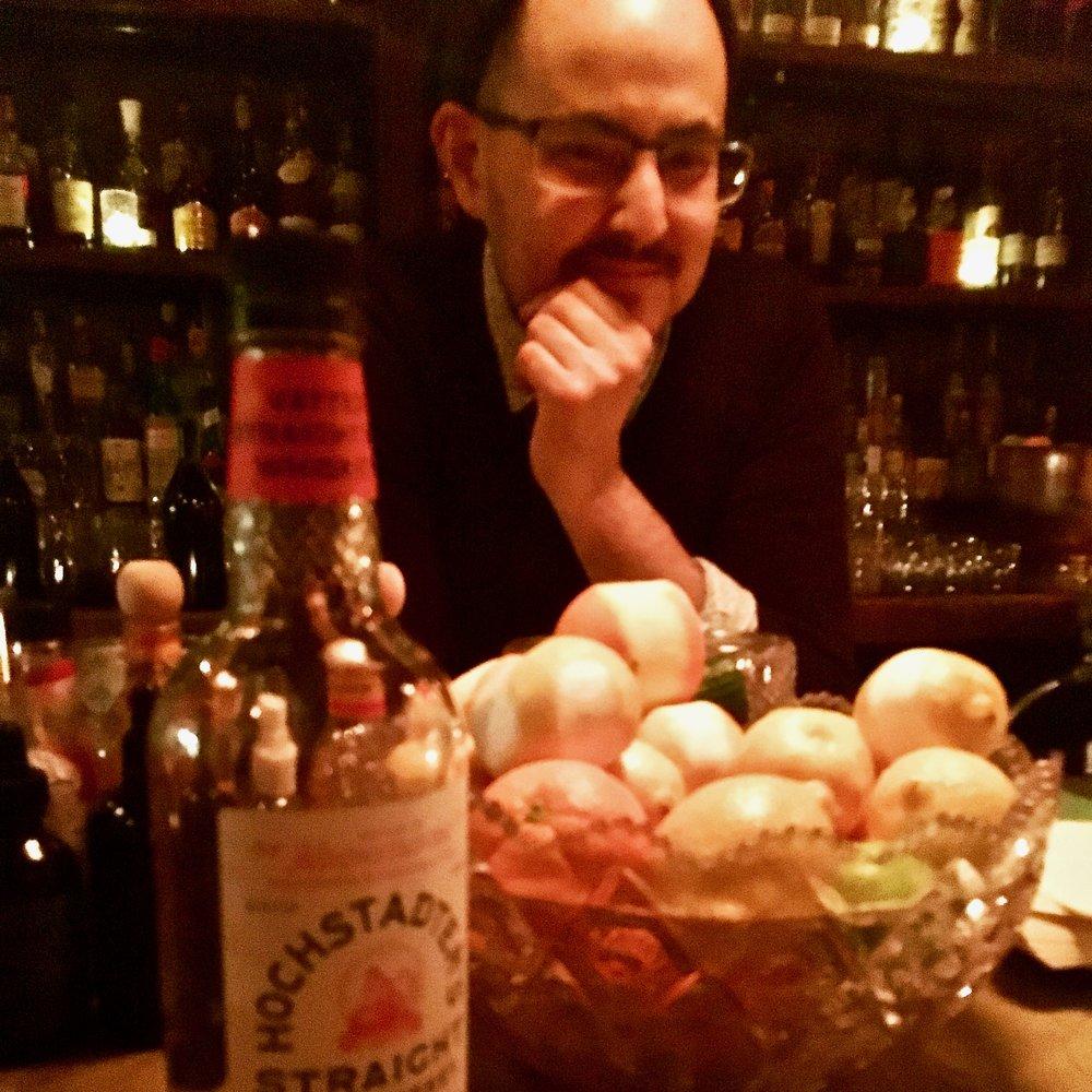 Wilson Oliver. Bartender of Notoriety. The Archer, Jersey City
