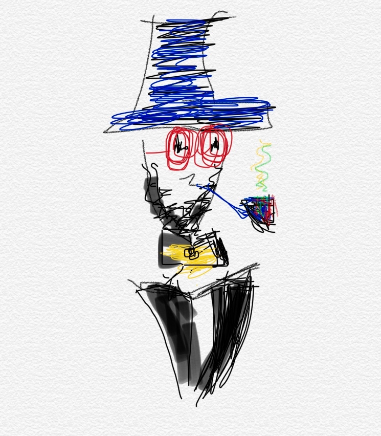 Yosef Beauys. Brother from Another Mother. Nirupa's fat finger drawings on iPhone