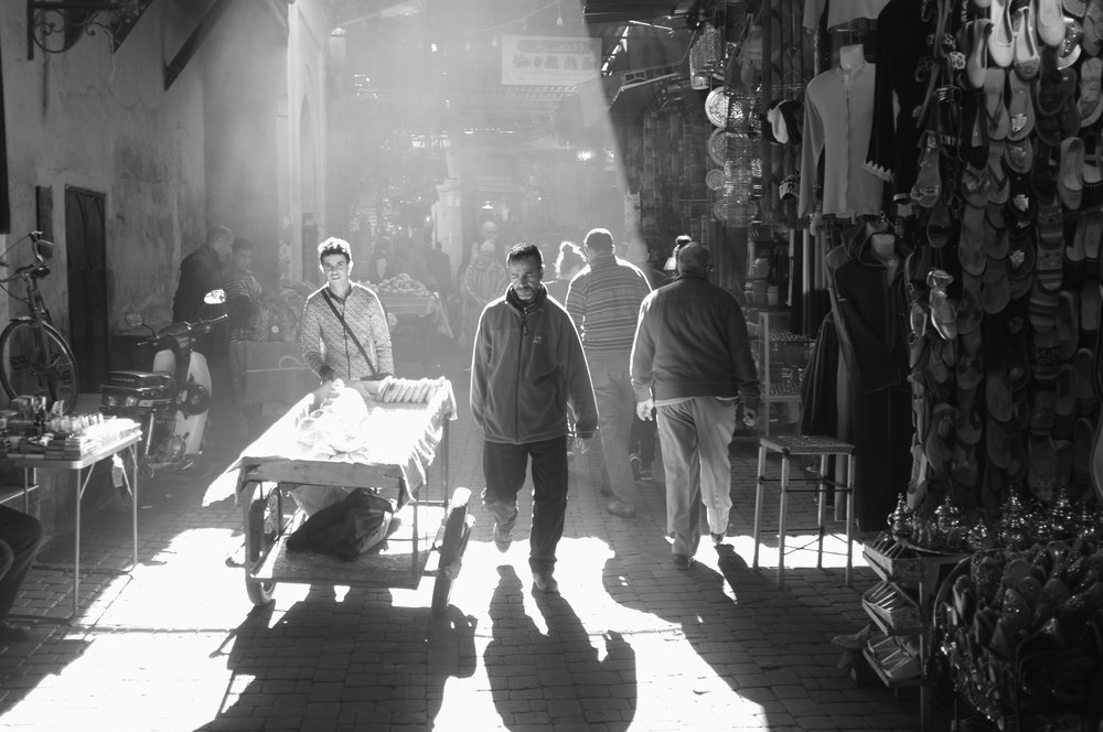 Market in Marrakesh.Morocco