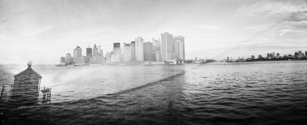 New York, USA: Camera: Noblex. Film: Kodak Portra 400