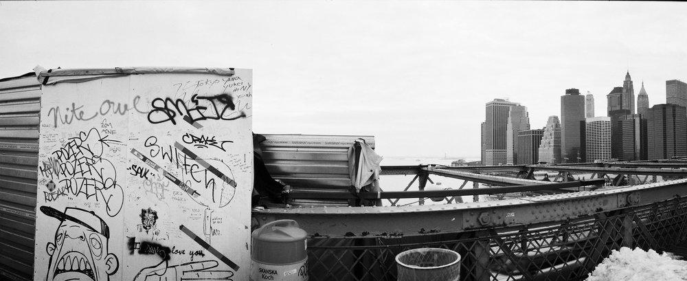 New York, USA. Camera:Noblex. Film: Kodak Portra 400