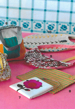 Appliqued Flower bag As seen in SO EN magazine Japan Silk and suede Made to order POA